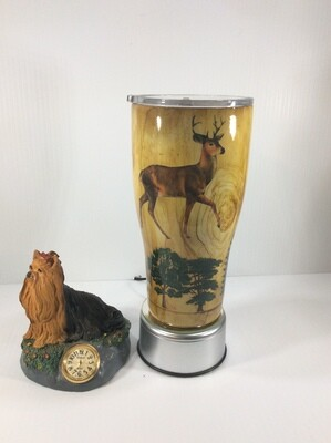 Deer and forest wood grain Tumbler