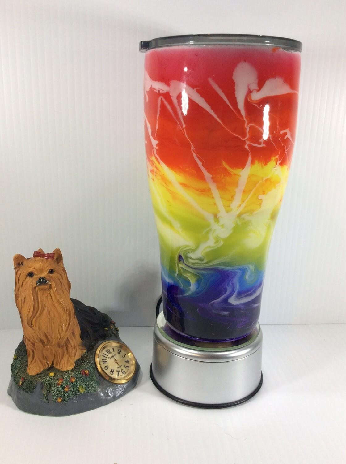 Colorful alcohol ink stainless steel tumbler