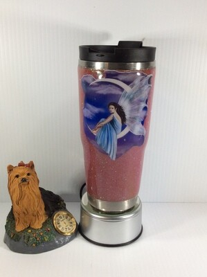 Fairy on moon stainless steel tumbler