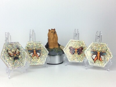 Sparkling Butterfly coasters