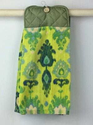 Green pot Holder Hanging Towel