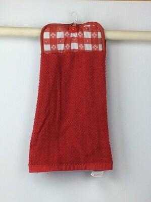 Checker top Pot Holder top towel