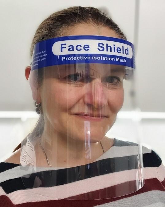 Gesichtsvisier Kunststoff