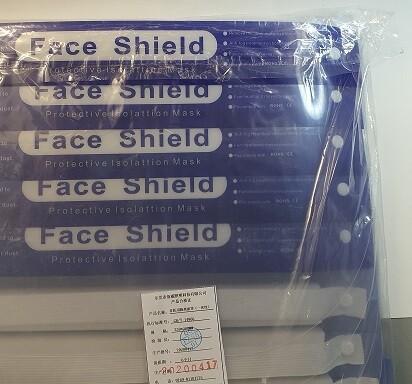 Gesichtsvisier Kunststoff 10 Stück