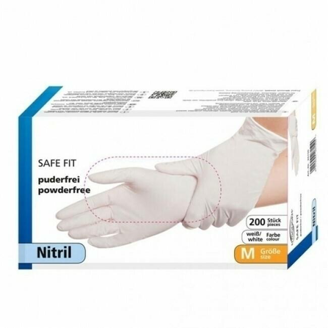 Nitril-Handschuhe SAFE FIT, hautfarben, puderfrei, 200 Stück