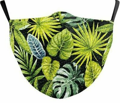 Community Maske exotische Blätter Erwachsene