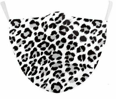 Community Maske Leopard weiss Erwachsene
