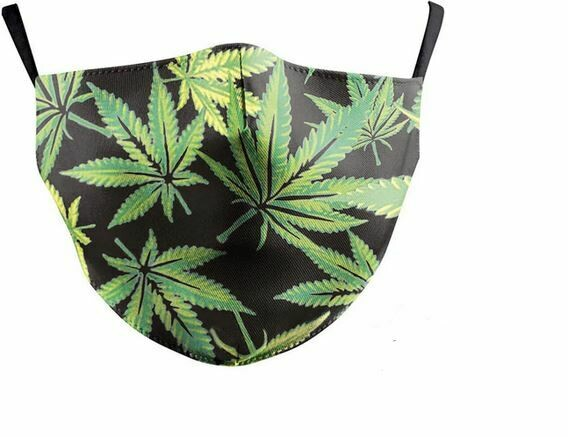 Community Maske Cannabisblätter Erwachsene