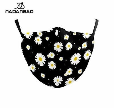 Community Maske Blumen dunkel Erwachsene