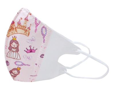 3-lagiger Mundnasenschutz Princess bedruckt vorgeformt Kinder (Einweg) - 5 Stück