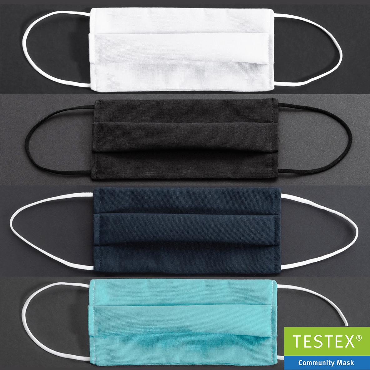 Empa-geprüfte Community-Maske Polyester uni in 4 Varianten - 1 Stück
