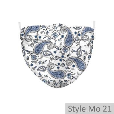 2-lagige Community Maske gefaltet (Modelle 9, 21, 22) -  1 Stück inkl. 2 optional einsetzbaren Aktivkohle-Filtern