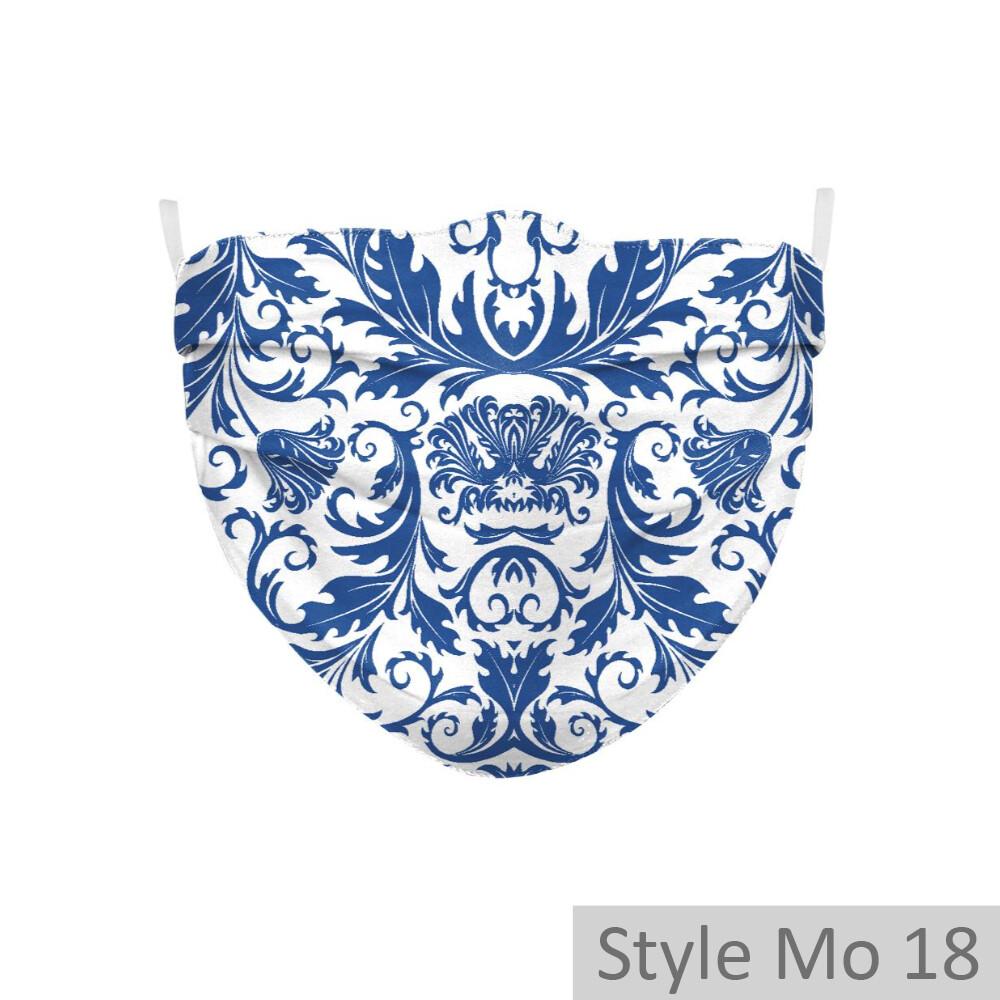 2-lagige Community Maske gefaltet (Modelle 18, 57, 58) -  1 Stück inkl. 2 optional einsetzbaren Aktivkohle-Filtern