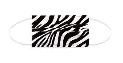 Mundnasen-Schutz 3-lagig Zebra nature - 10 Stück