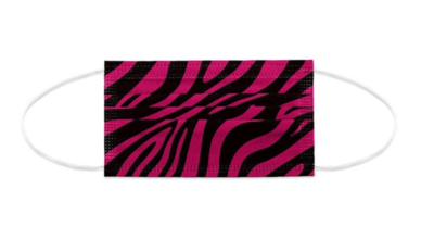 Mundnasen-Schutz 3-lagig Zebra rot - 10 Stück