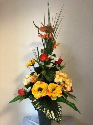 Arrangement mortuaire pour vase