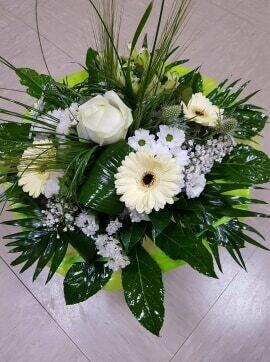 Bouquet rond ton blanc