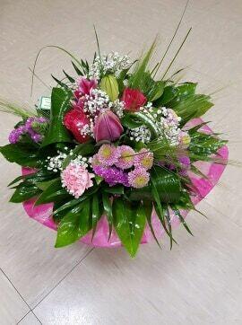 Bouquets rond ton rose/mauve