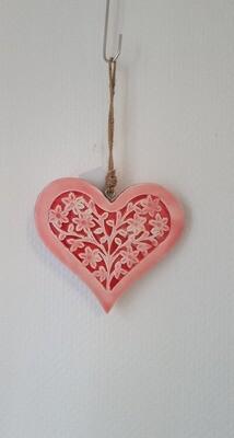 Coeur en bois laqué