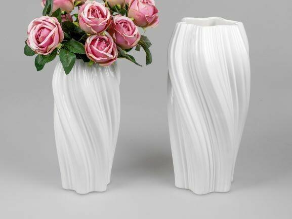 Vase blanc 30cm