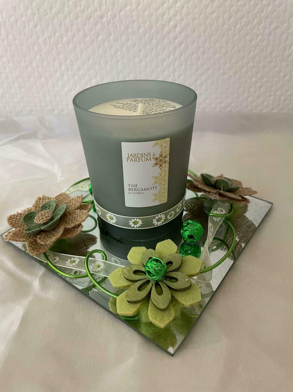 Bougie décorée parfum thé bergamote