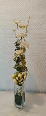 Composition sec et soie fleurs séchées