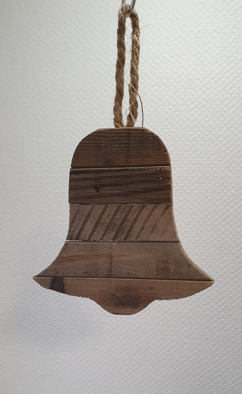 Cloche en bois à suspendre