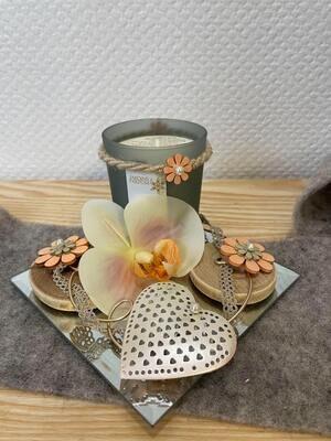 bougie décorée