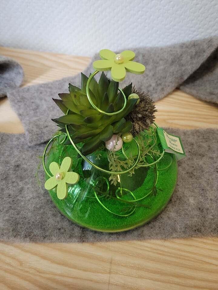 Arrangement sec et soie dans un vase