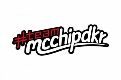ステッカー[team mcchip-dkr]ロゴ 15cm