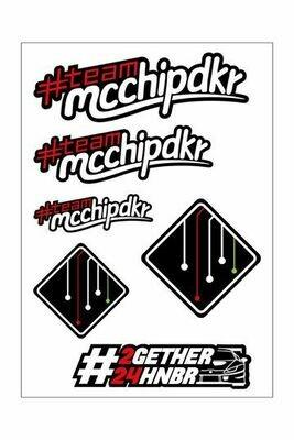 ステッカー [mcchip-dkr Logo] A4シート