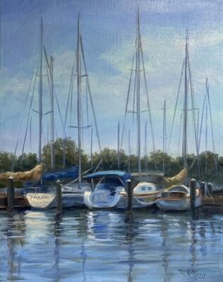 Sailboats at the Marina