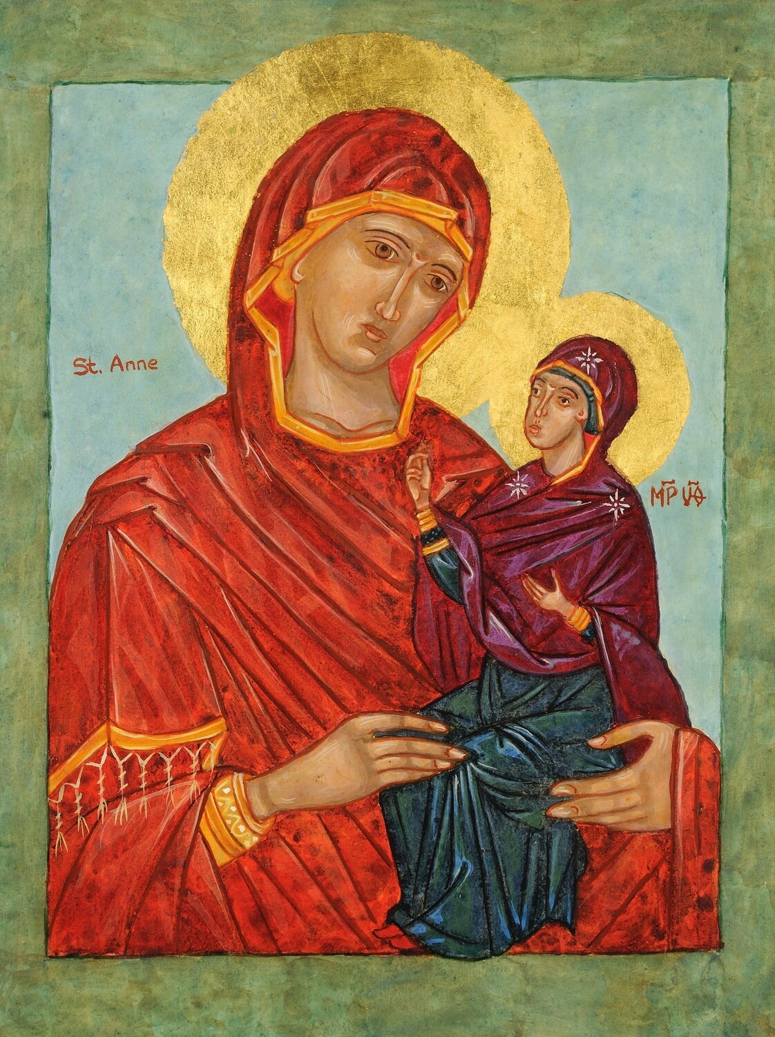 Saint Anne with Mary - Icon