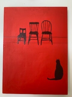 Red Interior with Cat