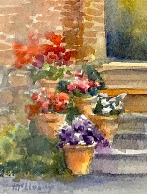 Pots of Flowers in the Garden