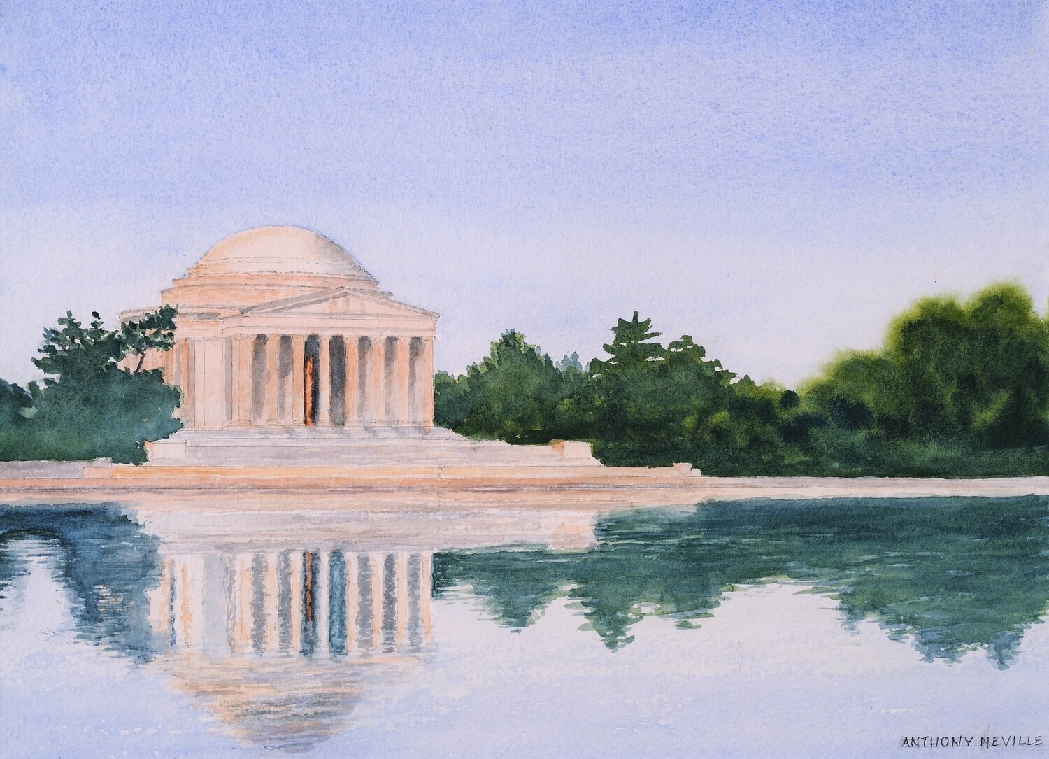 Jefferson Monument at Dawn