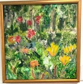 Claudia's Garden with Orange Lilies