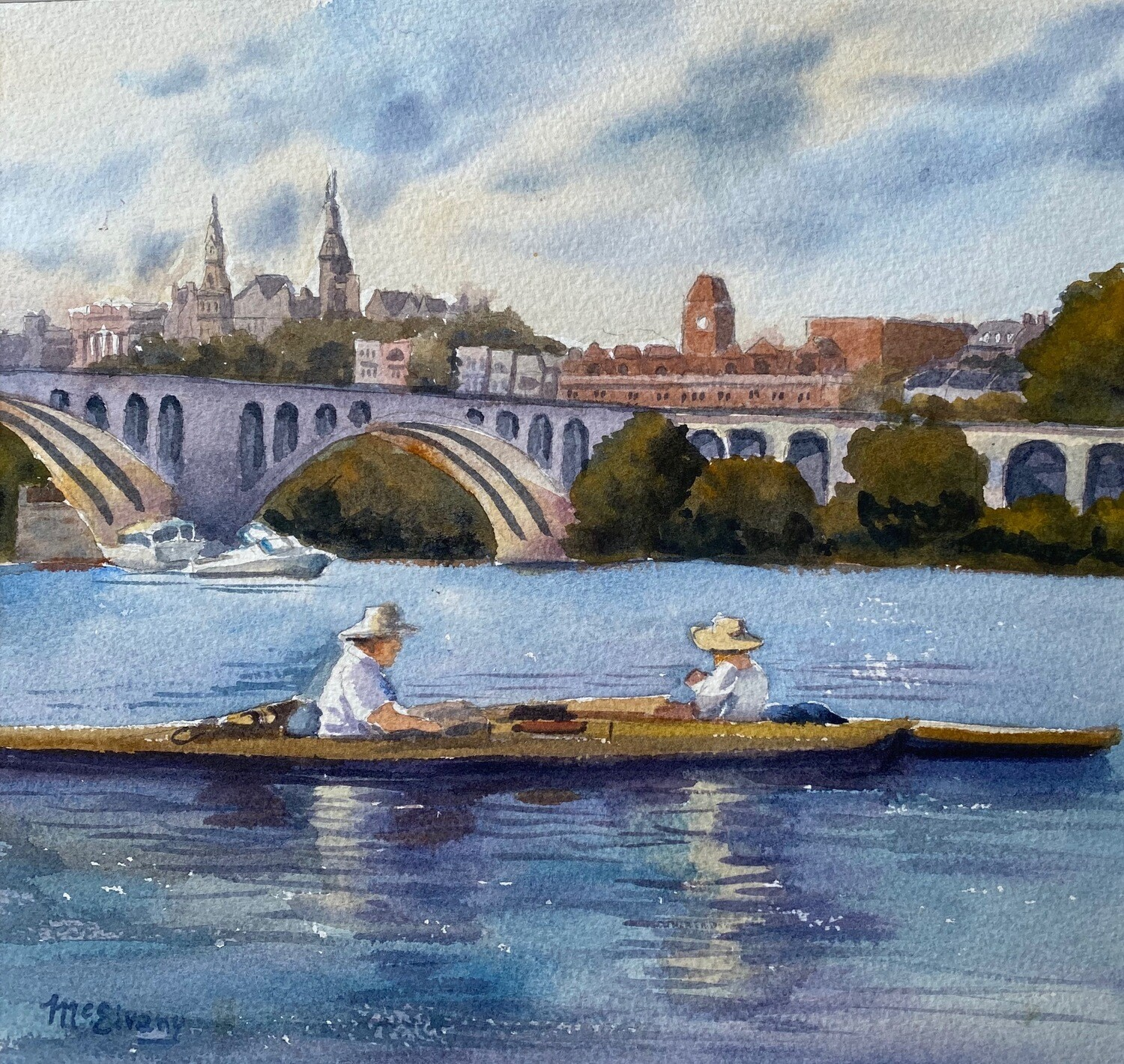 Kayakers at Key Bridge