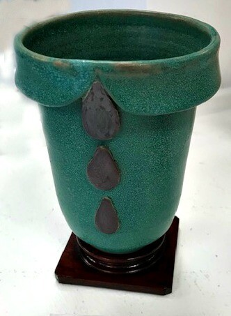 Weathered Green Vase