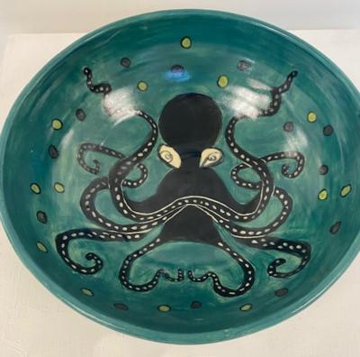 Green Octopus Bowl