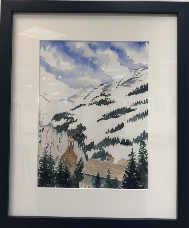 Snowy Swiss Alpine Valley