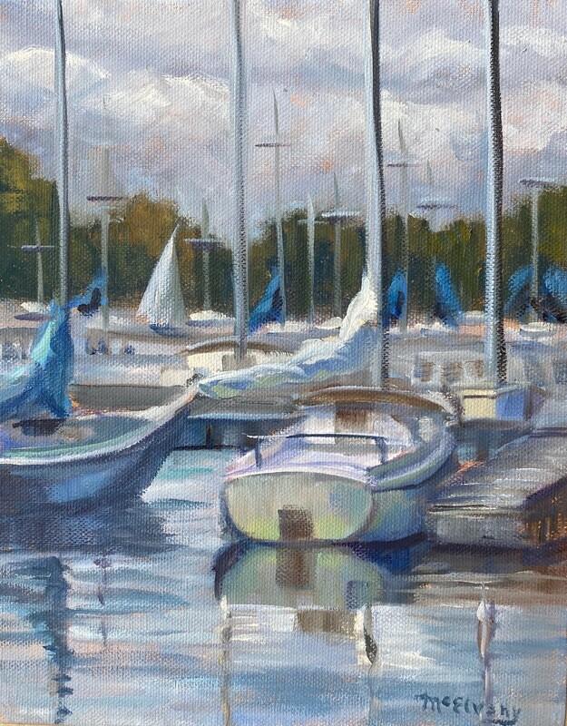 Boats at the National Sailing Marina