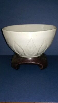 Bowl with Leaf Carving