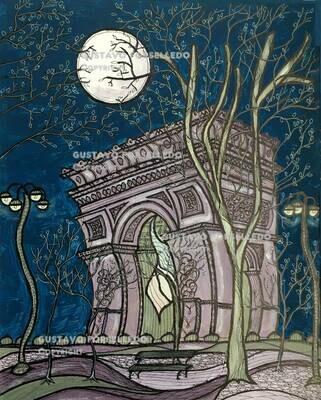 Nuit Violette a L'arc de Triomphe