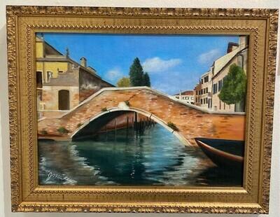 Venice Bridge Scene