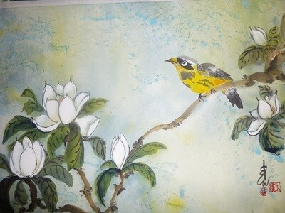 Magnolia and Goldfinch