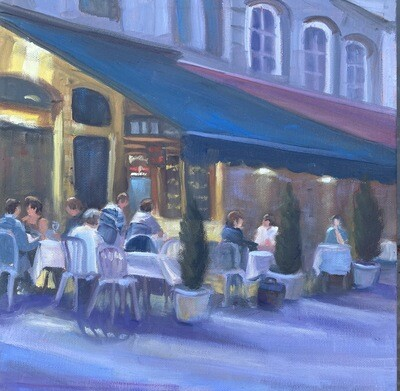 Evening Under the Blue Awning