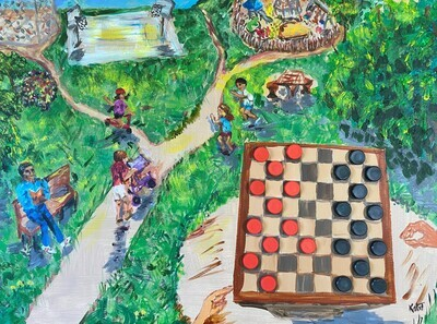 Magnetic Park - Anyone for Checkers?
