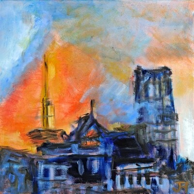 The Burning of Notre Dame 3