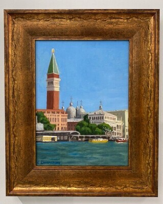 Venice: View of the Campanile from Punta Delle Dogana
